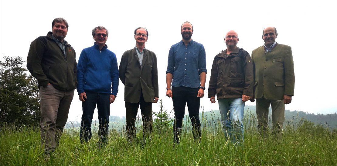 v.l.n.r. Josef Leichtfried, Friedrich Holzinger, Wolfgang Schweighofer, Thomas Fankhauser, Lukas Stepanek, Thomas Baschny